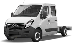 Opel Movano Doppelkabine Fahrgestell mit Fahrerhaus