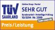 MeinAuto.de ist TÜV-zertifiziert im Bereich Preis/Leistung