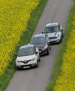 Mini Countryman Renault Captur Peugeot 2008 Test