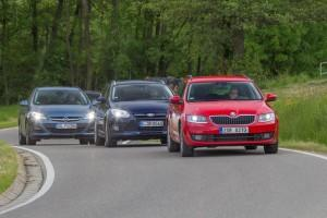 Skoda Octavia Combi Ford Focus Turnier Opel Astra Sports Tourer Test