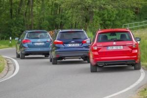 Skoda Octavia Combi Ford Focus Turnier Opel Astra Sports Tourer hinten Test