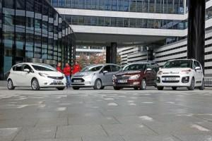 Nissan Note Ford B-Max Skoda Roomster Citroen C3 Picasso Test