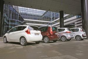 Nissan Note Ford B-Max Skoda Roomster Citroen C3 Picasso hinten Test