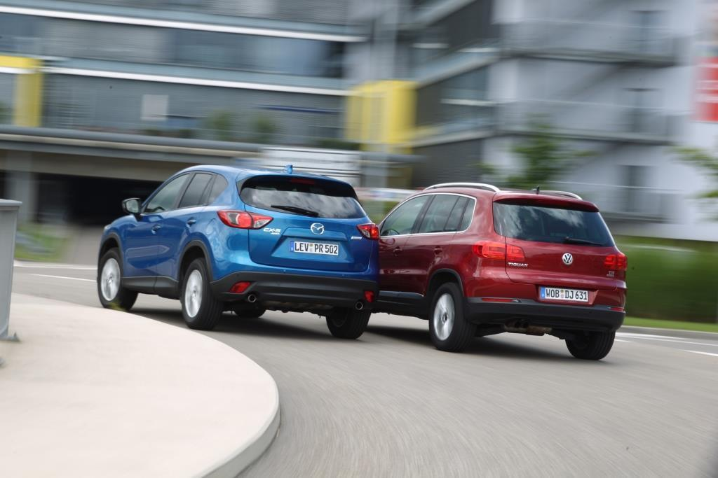 Mazda CX-5 vs. VW Tiguan Test: auf der Suche nach der Alternative - MeinAuto.de