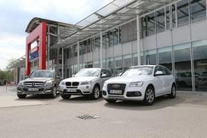 mercedes glk bmw x3 audi q5 test
