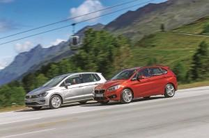 vw golf sportsvan bmw 2er active tourer test