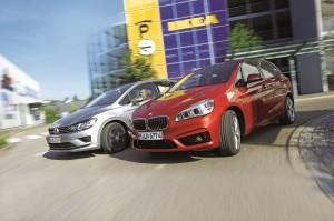 vw golf sportsvan bmw 2er active tourer test 2015