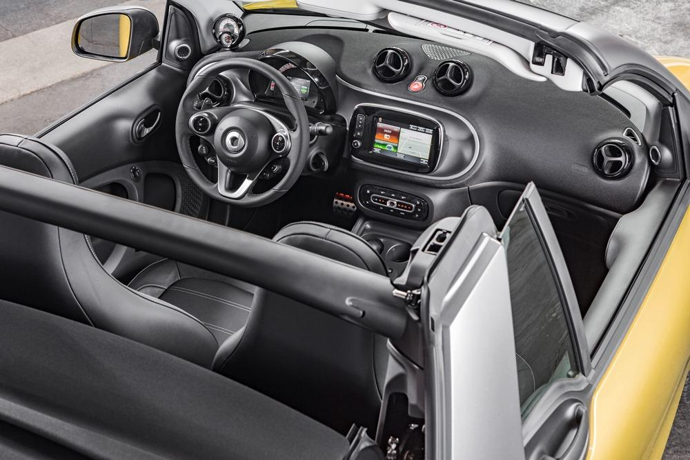 Smart fortwo cabrio 2016 test ein luft und for Smart interieur