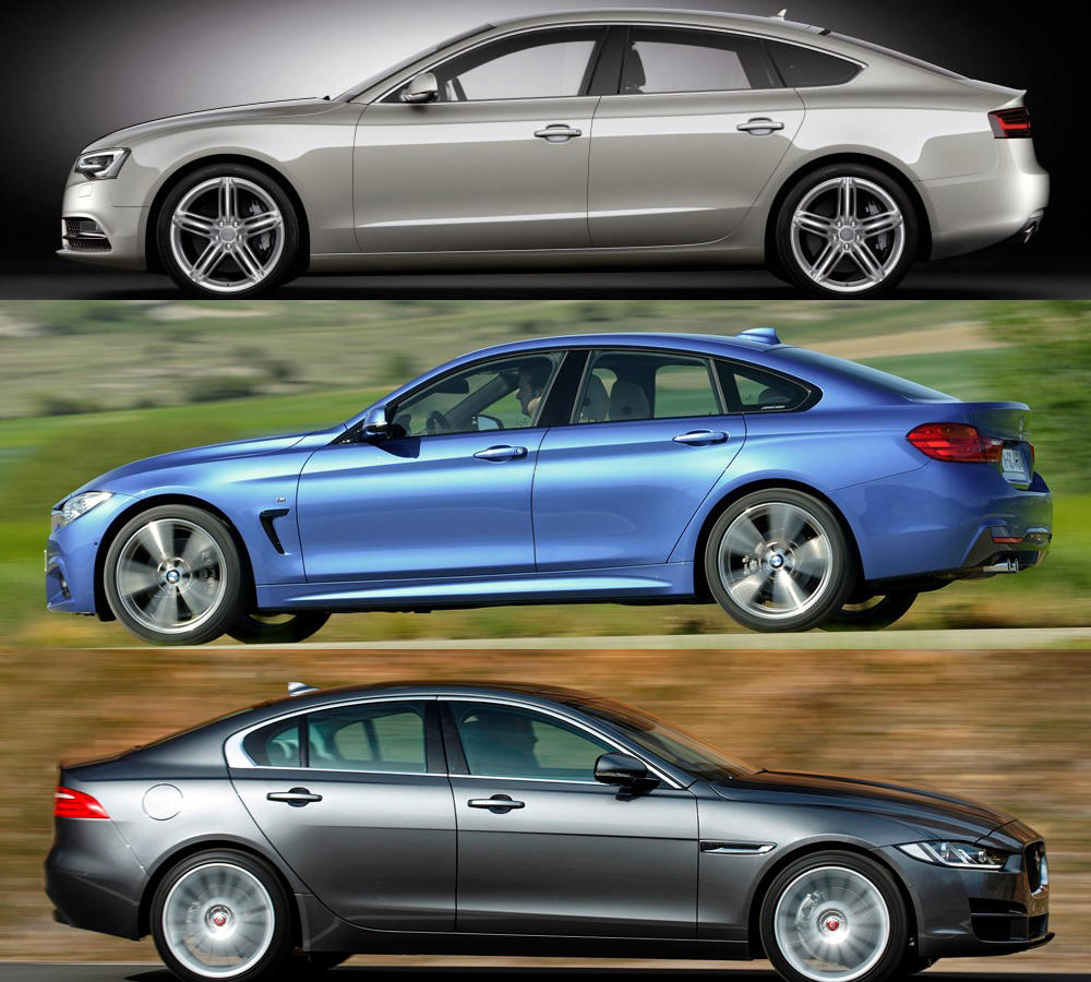 bmw 4er gran coup vs jaguar xe vs audi a5 sportback. Black Bedroom Furniture Sets. Home Design Ideas