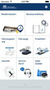 Hyundai Service Guide App 2015 Screenshot
