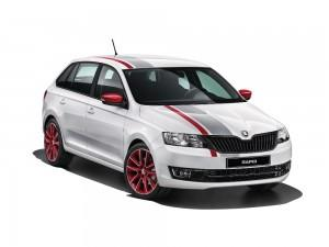 SKODA Rapid Spaceback Cool Edition Red Grey 2015 vorne statisch