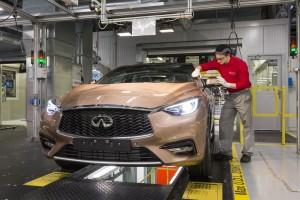 Infiniti Q30 Produktion Start 2015 Lackkontrolle
