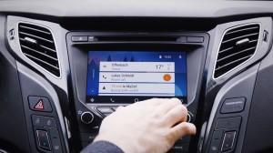 Hyudai i40 Android Auto 2016 display