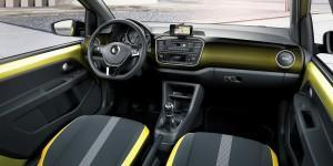 VW up! 2016 innen gelb cockpit
