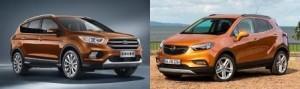 Opel Mokka X vs. Ford Kuga: zwei Pflegeprodukte im SUV-Duell