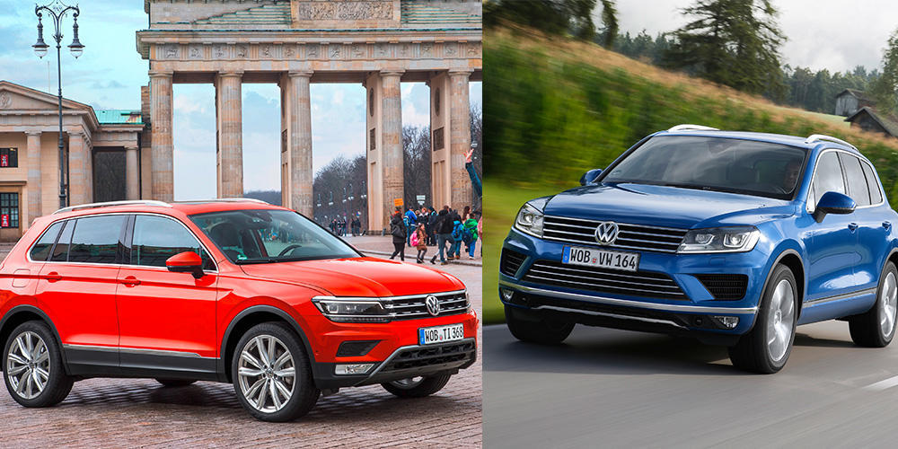 vw tiguan vs touareg wer passt zu wem. Black Bedroom Furniture Sets. Home Design Ideas