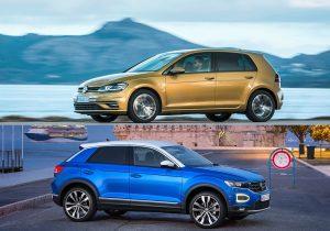 VW Golf 7 vs. VW T-Roc (2017): kompakt und tief gegen SUV und hoch