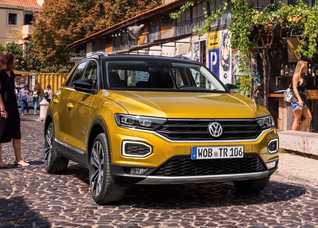 vw t roc im test 2017 tiguan und golf bekommen einen. Black Bedroom Furniture Sets. Home Design Ideas
