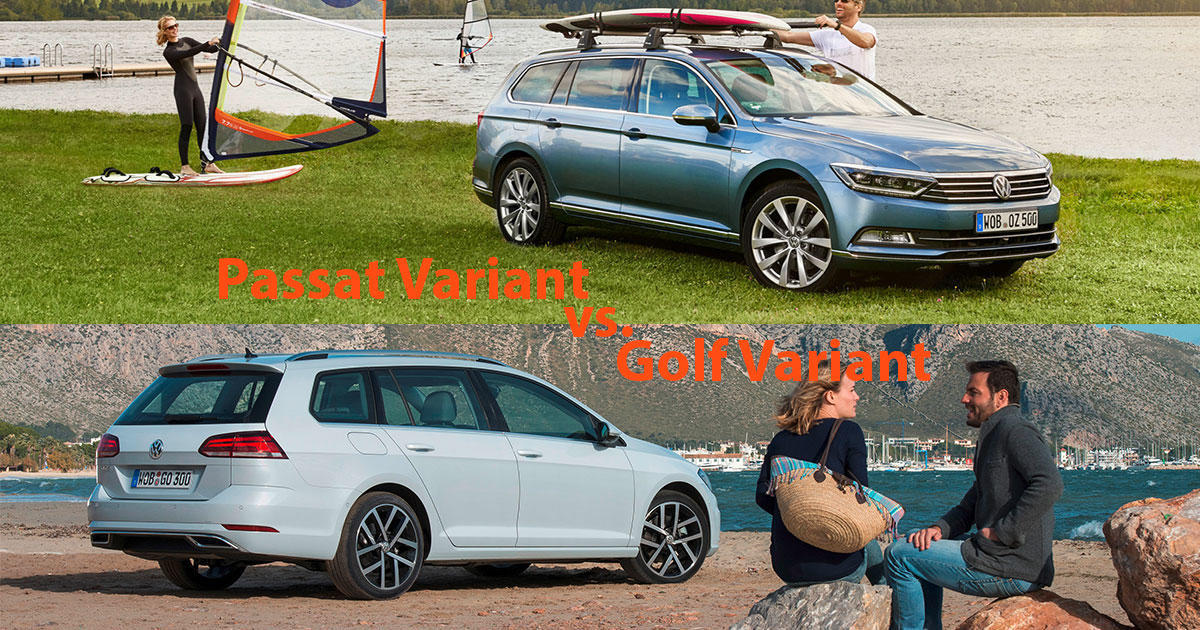 Vw Golf Variant Oder Vw Passat Variant 2018 Welcher Ist Der