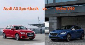 Audi A3 Sportback vs. Volvo V40: Duell der exklusiven Schräghecklimousinen