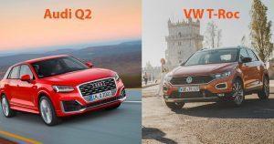 VW T-Roc oder Audi Q2: die SUV-Federgewichte im Familienduell