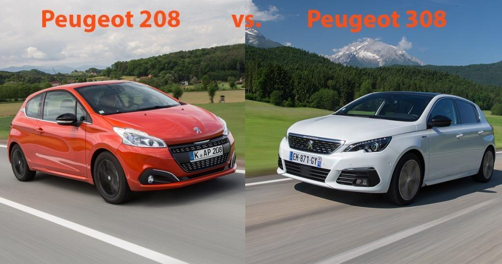 peugeot 208 vs. peugeot 308 (2018): klein oder kompakt, das ist die