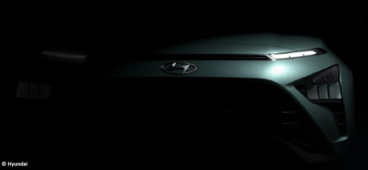Ultraschmale Schlitze: Hyundai verrät erste Designdetails zum Bayon