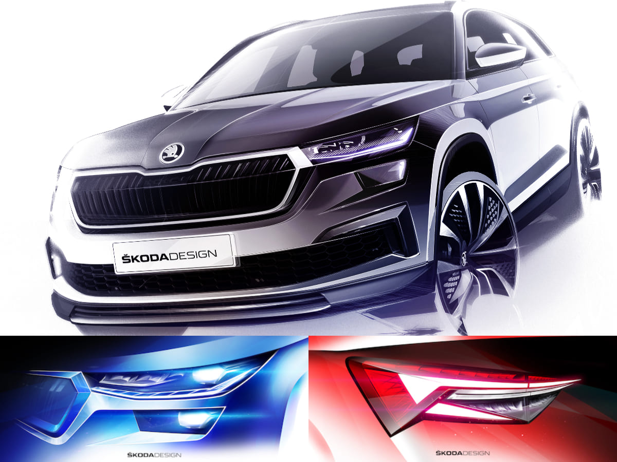 Skoda Kodiaq Design Collage