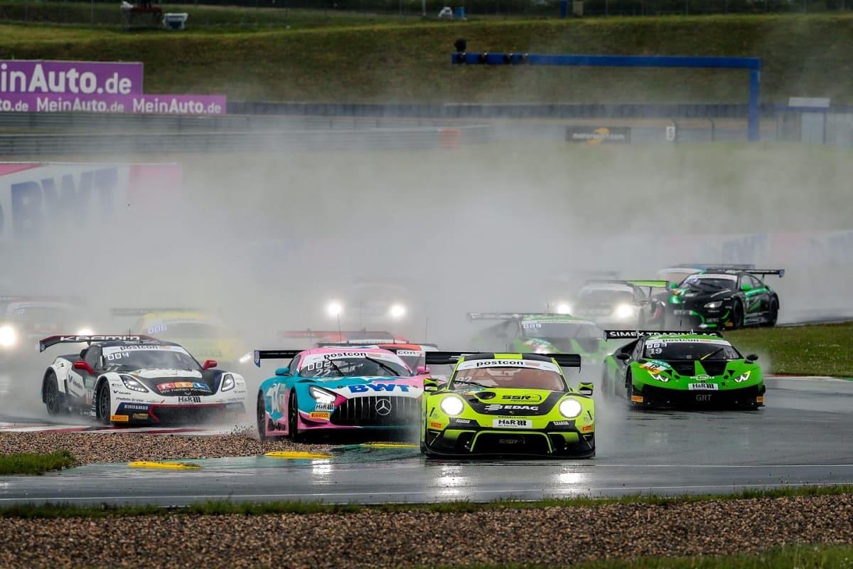 ADAC GT Masters: Porsche gewinnt Reifenpoker von Oschersleben