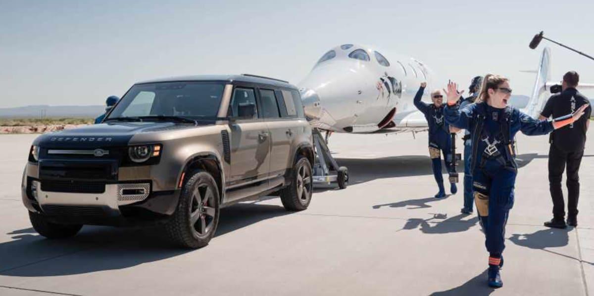 Land Rover unterstützt Richard Branson bei Weltraumflug