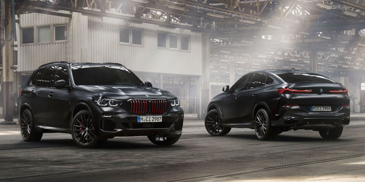 BMW X5, X6 und X7: Luxuriöse Sondermodelle in schwarz-rot