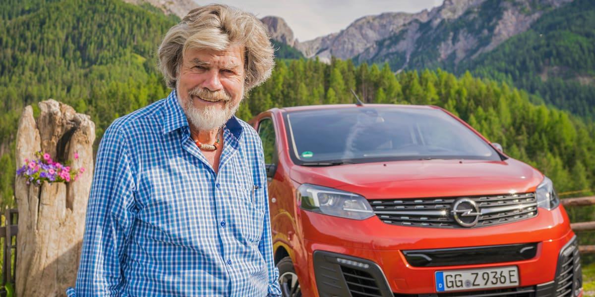 Reinhold Messner macht Opel Elektro-Vans zu Gipfelstürmern