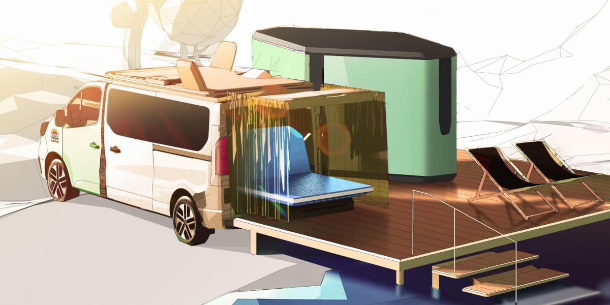 Renault Hippie Caviar Hotel: 5-Sterne-Luxus für den Campingplatz