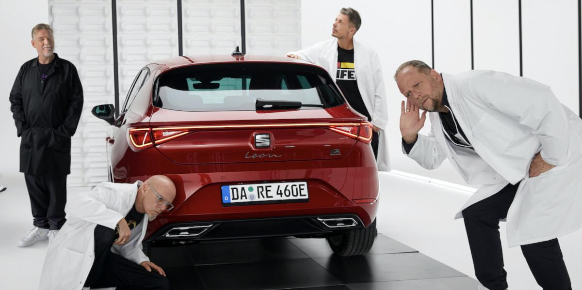 Fanta 4 machen Seat Leon e-Hybrid zum Instrument