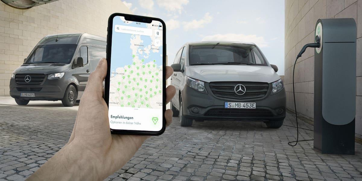 Mercedes: Ladeflatrate für gewerbliche E-Vans