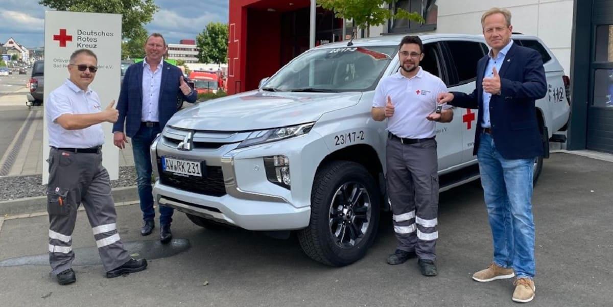 Mitsubishi: Profi-Pick-Up L200 unterstützt Fluthelfer an der Ahr